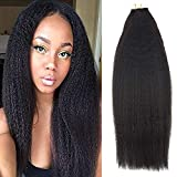 hair extention package - Full Shine 16 inch 50gram 20 Pcs Per Package Tape In Hair Extensions Remy Human Hair Kinkys Straight Natural Black Wavy Hair Extensions