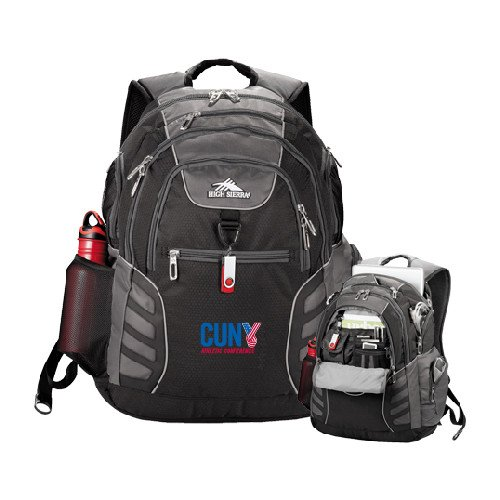 CUNYAC High Sierra Big Wig Black Compu Backpack 'Official Logo' by CollegeFanGear