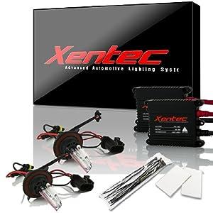 XENTEC H13/9008 Hi/Lo 6000K Advanced Slim Alloy Ballast HID Xenon Kit w/ Hi-beam Halogen (Ultra White)