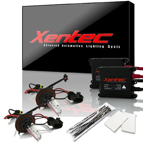 XENTEC H13/9008 10000K Advanced Slim Alloy Ballast HID Xenon Kit w/Hi-beam Halogen (Brilliant Blue)
