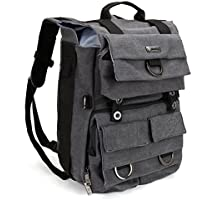 Camera Backpack, Evecase Canvas DSLR Camera Travel Backpack with Separate 14 inch Laptop / Tablet Compartment For Digital SLR interchangeable Lens, Full Frame, 4/3 Micro Four Third, Mirrorless Camera