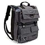 Evecase Canvas DSLR Camera Travel Backpack with 14 inch Laptop/Tablet Compartment For Digital SLR interchangeable Lens, Full Film Frame, 4/3 Micro Four Third, Mirrorless,