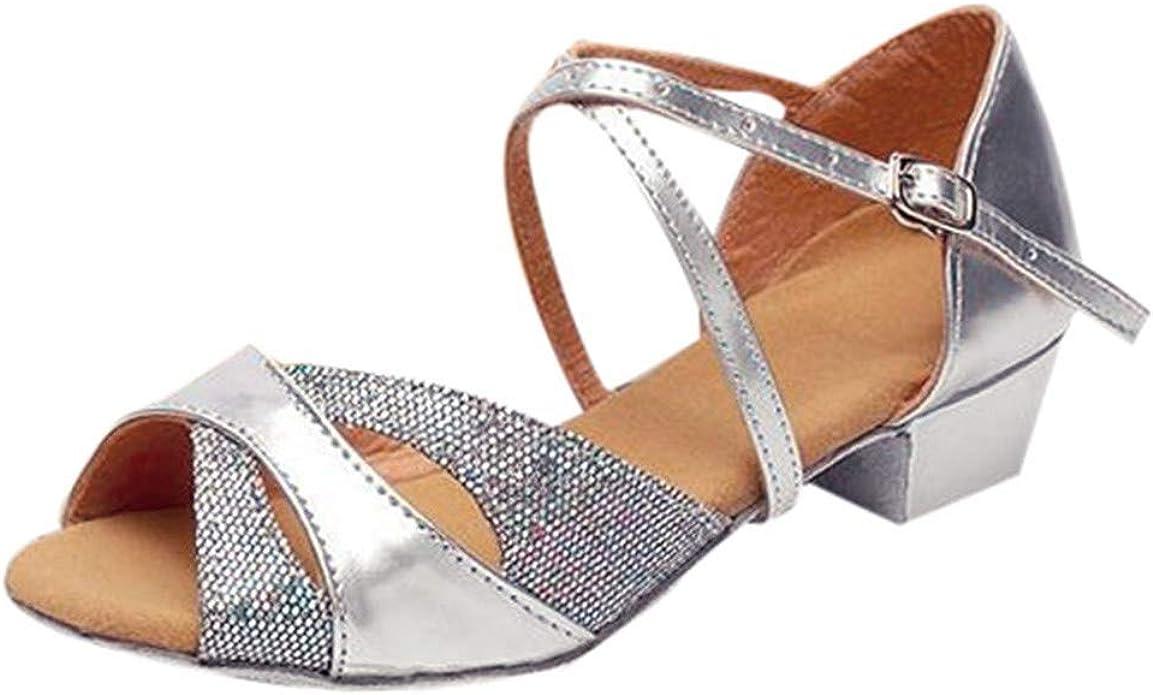 Deloito - Sandalias para Mujer Rumba Walzer, Zapatillas de Baile ...