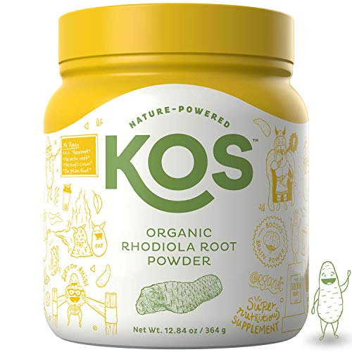 KOS Organic Rhodiola Root Powder   Natural Adaptogen Rhodiola Rosea Root Powder   USDA Organic, Improves Sleep, Decreases Stress & Anxiety, Pant Based Ingredient, 364g, 104 Servings