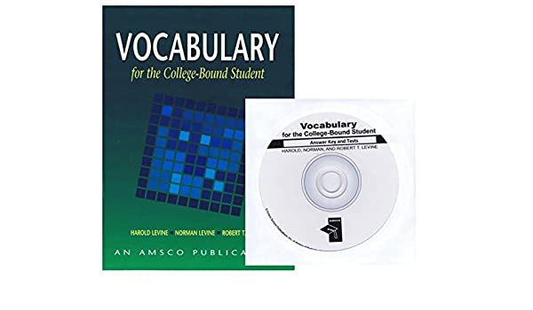 Vocabulary For The College Bound Student Edition And Answer
