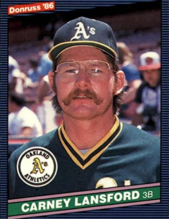 Amazoncom 1986 Donruss Baseball Card 131 Carney Lansford