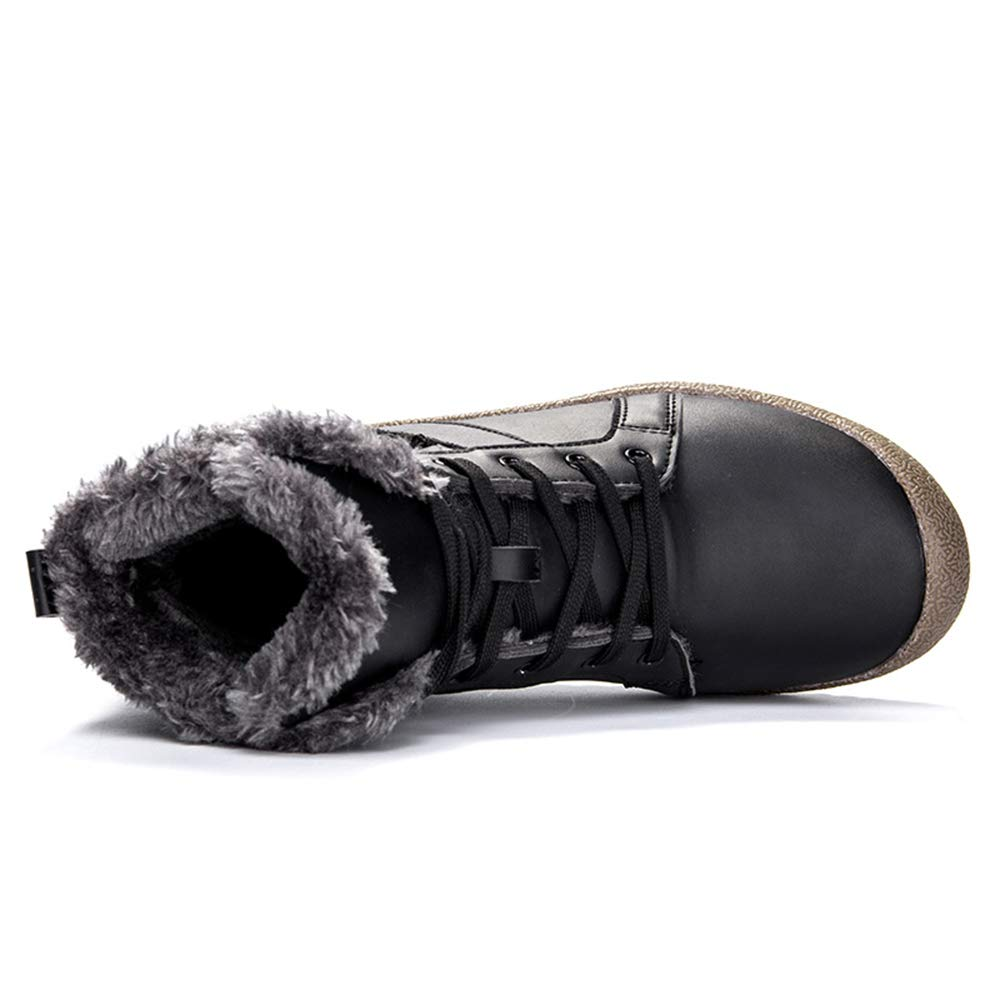 HENGVIE Mens Womens Snow Boots Winter Fully Fur Lined Anti-Slip Waterproof Outdoor Keep Warm Ankle Boots