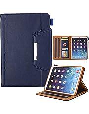 iPad Mini 6 Cover 2021,JiiJian 8.3 Inch PU Leather Flip Smart Case Full Body Protective with Auto Sleep/Wake, Cash Bag Card Slots,Multi-Angle Stand Shell Compatible with iPad Mini 6 8.3 Inch (Blue)