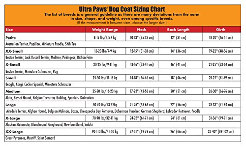 ULTRA PAWS REFLECTIVE RED DOG JACKET WATER RESISTANT ALL SIZES WINTER FLEECE LINED (Medium) by Ultra Paws (Image #3)