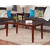 Atlantic Furniture AH15104 Shaker Coffee Table Rubberwood, Walnut