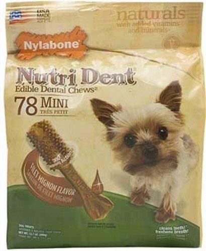 Nylabone Nutri Dent Filet Mignon, 78-Count Pouch, My Pet Supplies