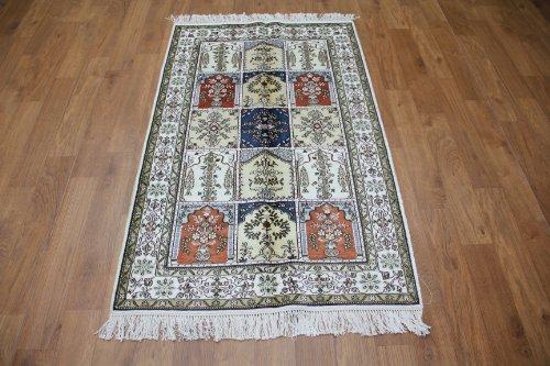 3'x 5' Hand Knotted Silk Rug Modern Designers Rug Hereke Carpet(206b-3x5)