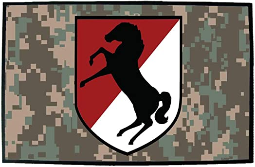 VictoryStore Home Accessories 11th Armored Cavalry Regiment Door Mat 24 inches x 36 inches