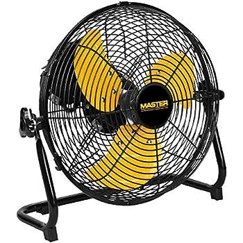 Master PROFESSIONAL MAC-12F Floor Fan, 12 Inch, Black