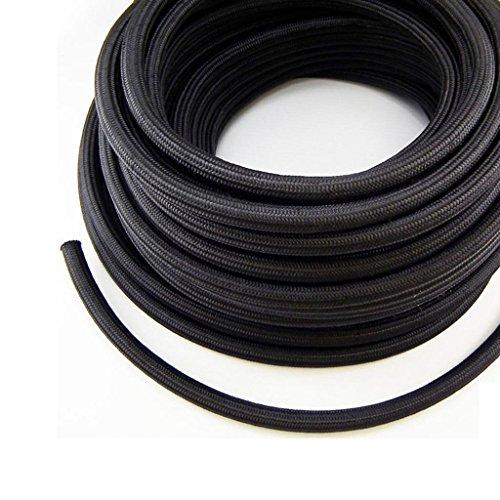 Nylon / Stainless Steel Braided Fuel Line Hose AN6 6-AN 10FEET 3 Meter BLACK