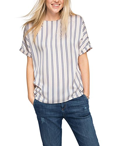 Esprit Blusa Para F Mujer White Sati off Marfil Hammered gqPrCwg