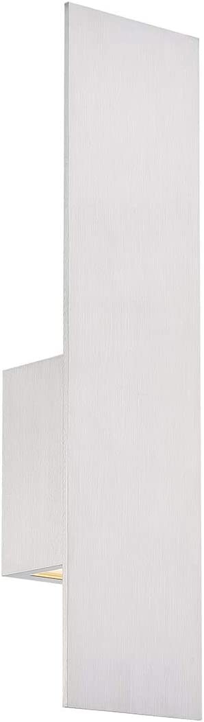 WAC Lighting WS-W54620-AL DweLED Icon 20in LED Outdoor Wall 3000K in Brushed Aluminum Light Fixture, 20 Inches