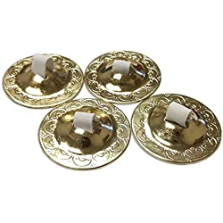Gold Finger Zills or Cymbals 2 Pair / 4pcs Antique - Belly Dancing Accessories