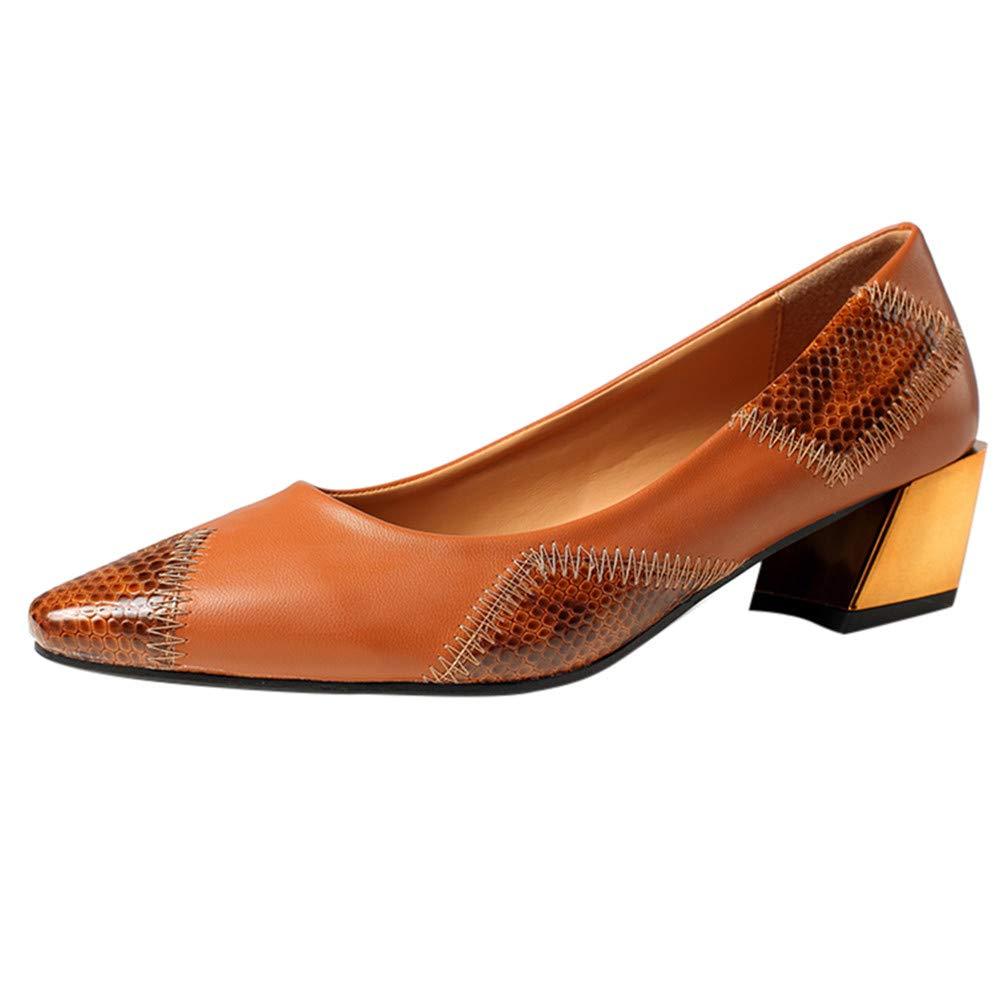 Darringls_Zapatos para Mujer,Sandalias Zapatos de tacón Alto en Punta para Mujer Zapatos de Cuero Planos Zapatos Perezosos Individuales: Amazon.es: Ropa y ...