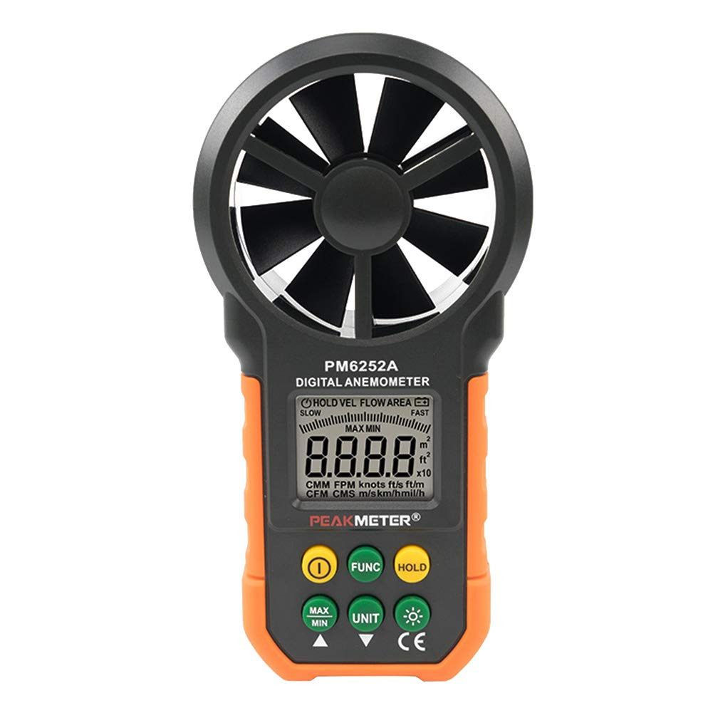 beiyoule Digital Anemometer Portable Wind Speed Meter CFM Meter Wind Gauge with LCD Backlight for Weather Data Collection Outdoors Sailing Surfing Fishing