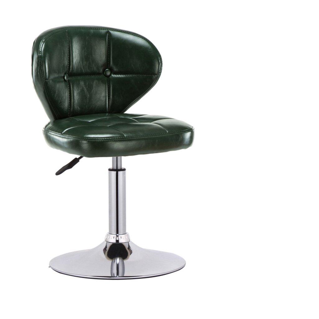 シュウクラブ@ バーチェアレトロバーハイチェアヨーロピアンスタイルトールバースツールモダンシンプルバーチェア背もたれスツール (色 : 濃い緑色) B07CTFN4D5 濃い緑色 濃い緑色