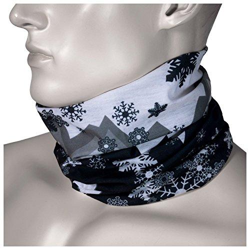 Multifunktions Schlauchtuch aus Mikrofaser -verschiedene Muster- Motorradtuch Snowboardtuch Fashion etc! (Winter Design)