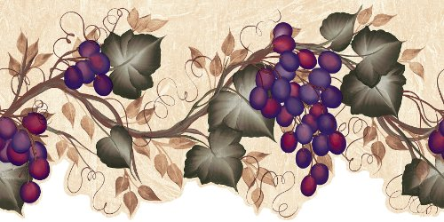 wall borders grapes - 2