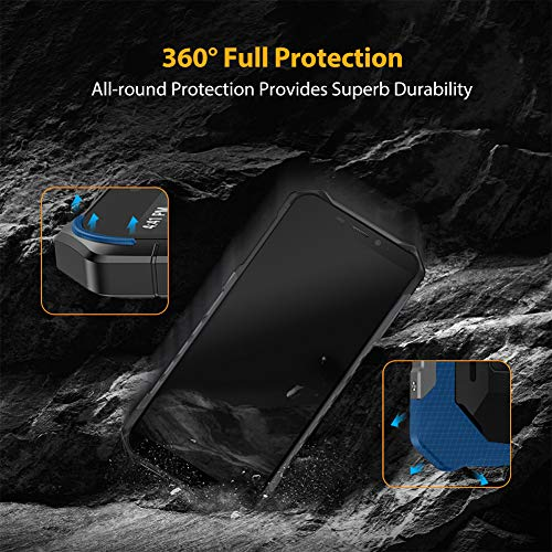 Rugged Smartphone Ulefone Armor X5 (2020), Waterproof IP68 Dual SIM Unlocked Phones, Global 4G LTE, 8-Octa-core Android 10, 3GB+32GB, 5000mAh Battery, Face Recognition, Bluetooth, NFC, Compass -Black