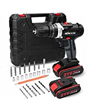 CHOSMO Household 3in1 Multifuctional Electric Drill mi-ni Screwdriver Rotation Ways Adjustment 25 Gears of Torques Adjustable