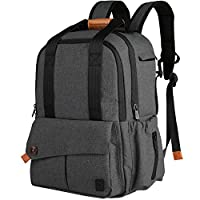 Ferlin Multi-function Baby Diaper Nappy Bags Backpack with Changing Pad, Fash...