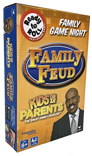 Family Feud Kid's vs Parents - The Great Family Equalizer Game - 2 - 4 Players Ages 8 and Up (Family Feud Game Board)