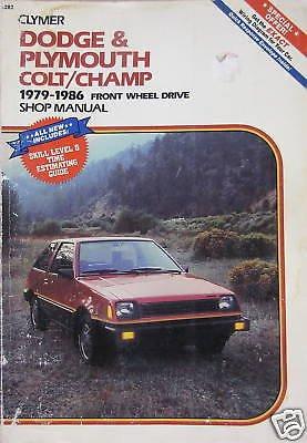 1979-1986 Clymer Shop Manual - Dodge Colt