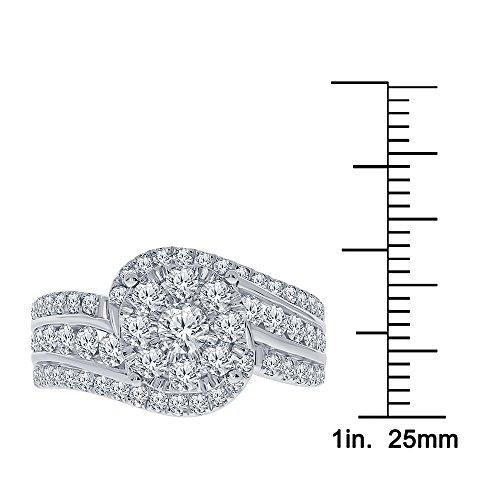 Real Diamond Engagement Ring 14K White Gold 1.65 TCW Center .16 Carat Diamond Ring Fine Diamond Jewelry by Wholesale Diamonds (Image #4)