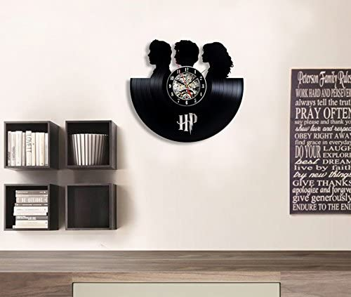 Harry Potter Friends Decorations Vinyl Record Wall Clock – Decorate Your Home with Modern Art – Best Gift for Man, Woman, Boyfriend and Girlfriend – Win a Prize for Feedback