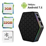 T95Z Plus Android 7.1 tv box with 3GB RAM 32GB ROM Amlogic S912 Octa-core 64 Bits support Dual Band 2.4G/5G Wifi 4K Ultra HD Bluetooth 4.0