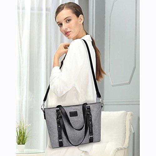 Bag Work Casual Handbags Women's Grey S Tote Lightweight Shoulder Bag Large ZONE wx6HwTqvA