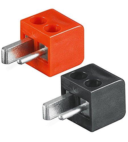 4 x altoparlanti - Mini connettore DIN (vecchia norma DIN)  | Set con 2 x connettore rosso + 2 x connettore nero  | Saldante di; Tecnologia vite ;[LS-spina; Linea-punto spina; Auto/auto-altoparlante connettore] Goobay