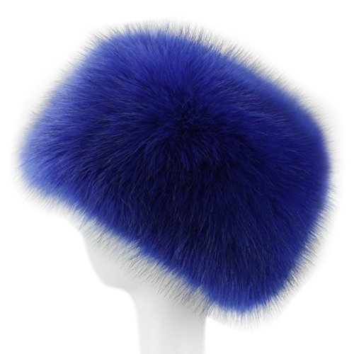Dikoaina Faux Fur Cossack Russian Style Hat for Ladies Winter Hats for Women (M, -