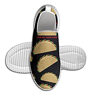 I Hate Tacos Said No Juan Ever Cartoon Men's Work Sneakers Running Shoes