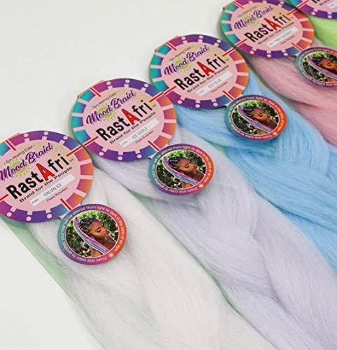 RastAfri Color Changing MOOD Crochet Braiding Hair (Pink Lemonade)