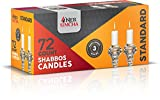 Ner Simcha Dripless Taper Candles 4'' Tall Shabbat, Wedding, Home & Holiday Decoration, Dinner Candles Set of 72 3 Hour White Shabbat Candles