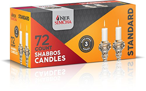 - Ner Simcha Dripless Taper Candles 4'' Tall Shabbat, Wedding, Home & Holiday Decoration, Dinner Candles Set of 72 3 Hour White Shabbat Candles