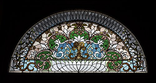(24 x 36 Giclee Print of Stained Glass Detail Above The Main Doorway of The Pueblo Union Depot in Pueblo Colorado r20 42148 by Highsmith, Carol M. )