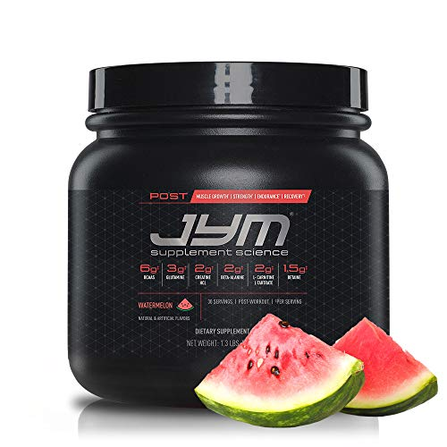 Post JYM Active Matrix – Post-Workout with BCAA's, Glutamine, Creatine HCL, Beta-Alanine, and More | JYM Supplement Science | Watermelon, 30 Servings