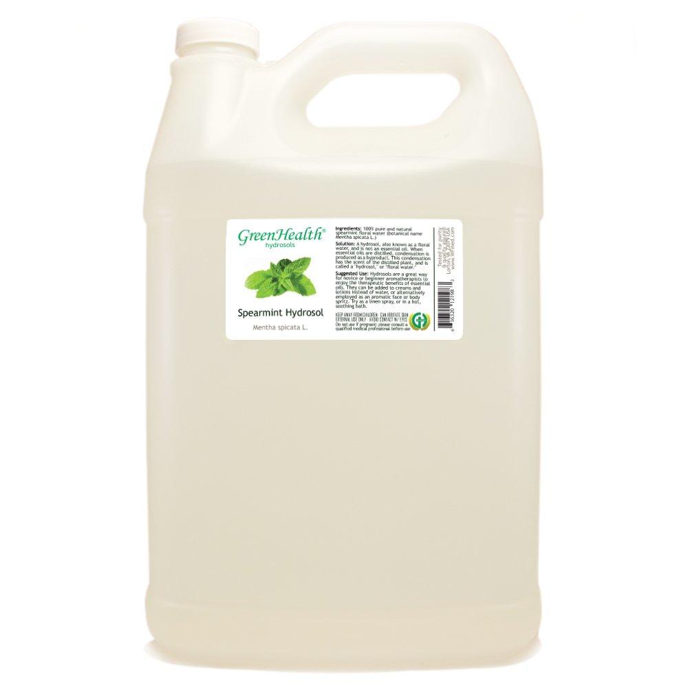 Spearmint Hydrosol - 1 Gallon Plastic Jug w/Cap - 100% pure, distilled from essential oil by GreenHealth