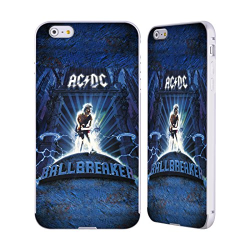 Officiel AC/DC ACDC Chieuse Art D'album Argent Étui Coque Aluminium Bumper Slider pour Apple iPhone 6 Plus / 6s Plus