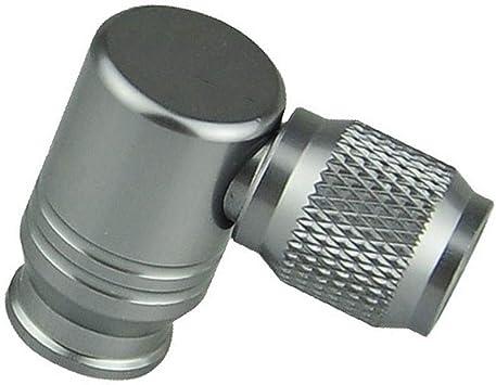Leezo - Accesorios neumáticos de Bomba neumática, Adaptador de depósito de Gas de CO2 de Cabeza de Bomba de Aire de Bicicleta de Mini para la válvula Americana Francesa, Titanium Color: Amazon.es: