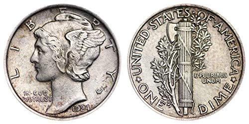 1924 P Silver Mercury Dime 10c Average Circulated - Ngc Dimes