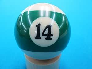 14 de Repuesto de Billar Bolas de Billar, Verde diseño de Rayas ...