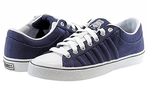 K-Swiss Mens Fashion Sneakers Adcourt CVS Low Sneakers Navy/White
